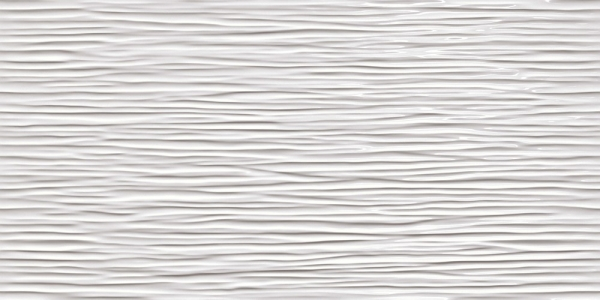 3D Wave White Glossy